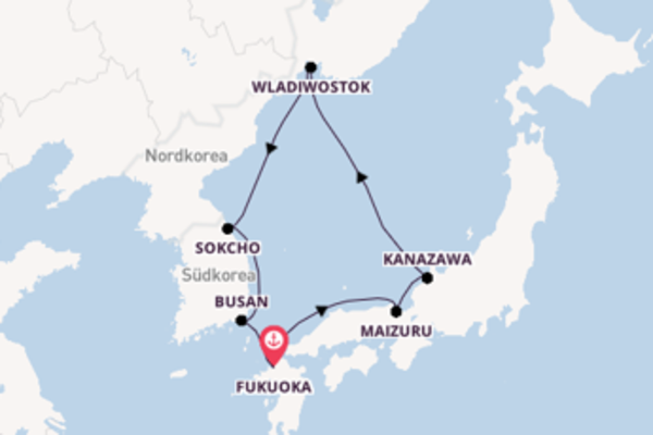 Kreuzfahrt mit der Costa Serena nach Fukuoka