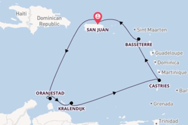 Cruise in 8 dagen naar San Juan met Norwegian Cruise Line