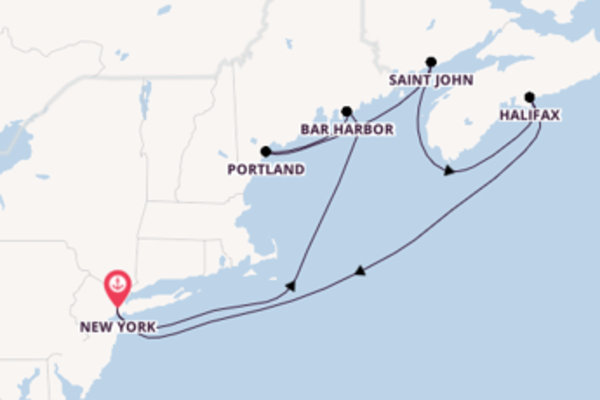8 day voyage on board the Norwegian Breakaway from New York