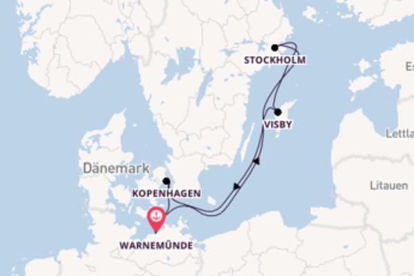 Erleben Sie Stockholm ab Warnemünde