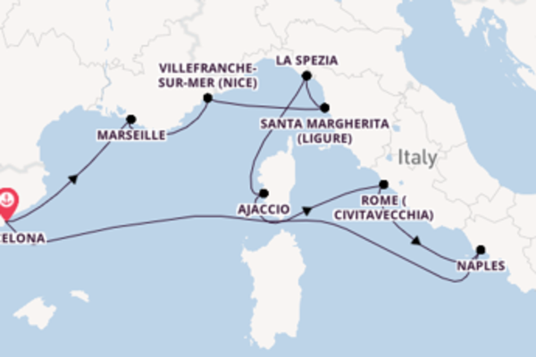 Cruise with Celebrity Cruises from Barcelona