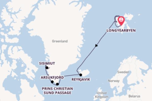 19-daagse droomcruise vanuit Longyearbyen, Noorwegen