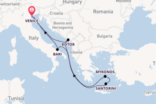 8 day cruise with the MSC Sinfonia to Venice