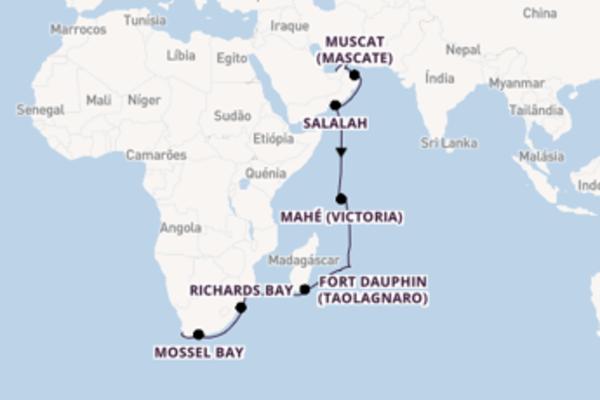 23 dias relaxando a bordo do Seven Seas Voyager