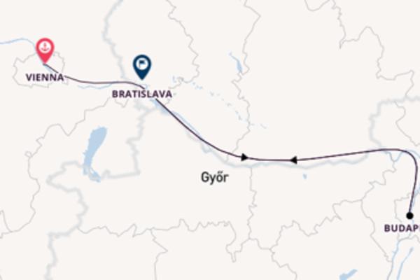 Cruising to Bratislava from Vienna