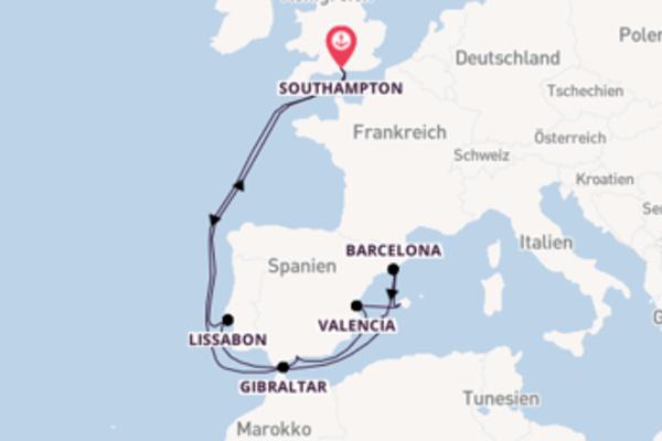 Von Southampton über Ibiza in 15 Tagen