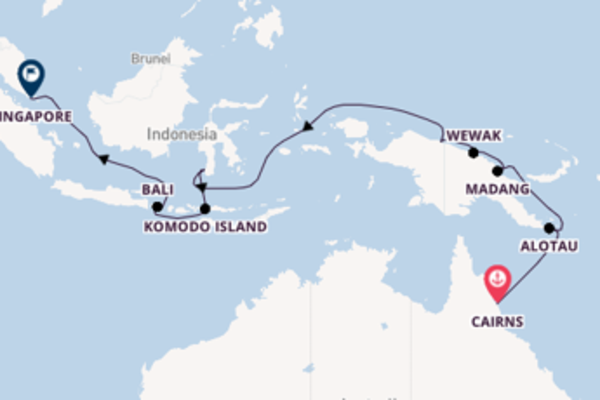 17 day voyage on board the Silver Shadow from Cairns