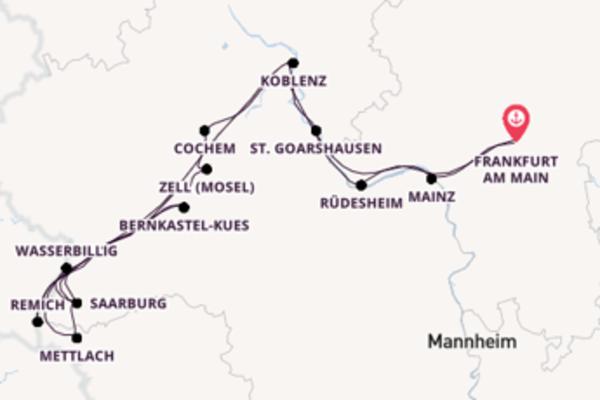 10 Tage unterwegs mit der Rhein Prinzessin