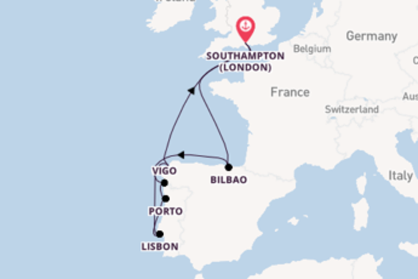 Voyage from Southampton (London) with the Celebrity Silhouette
