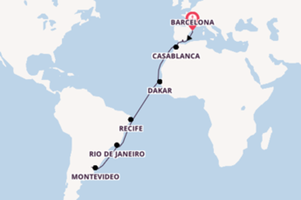 Cruising with Viking Ocean Cruises from Barcelona to Buenos Aires