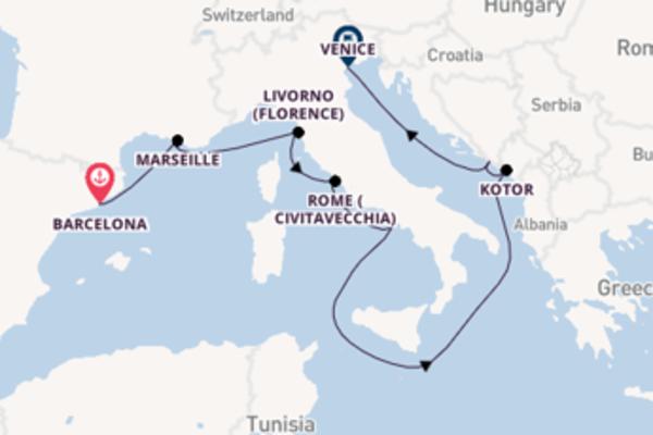 Cruising from Barcelona via Rome (Civitavecchia)