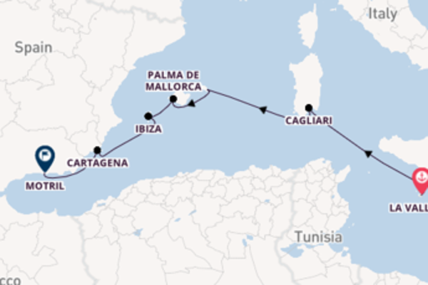 10-daagse cruise vanaf La Valletta, Malta
