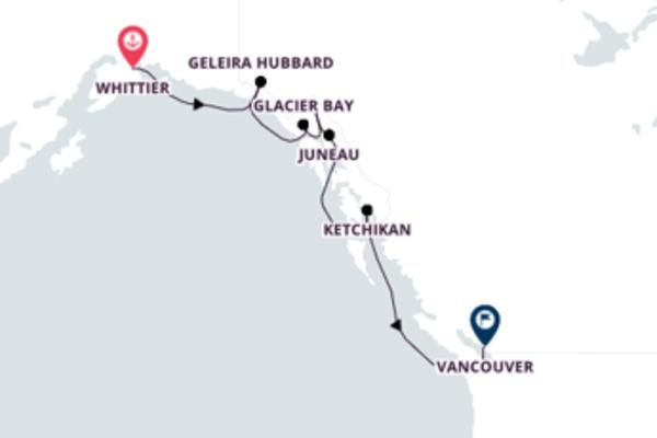Magnífico cruzeiro de 8 dias até Vancouver