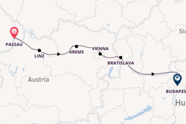 Cruise with Viking River Cruises from Passau to Budapest