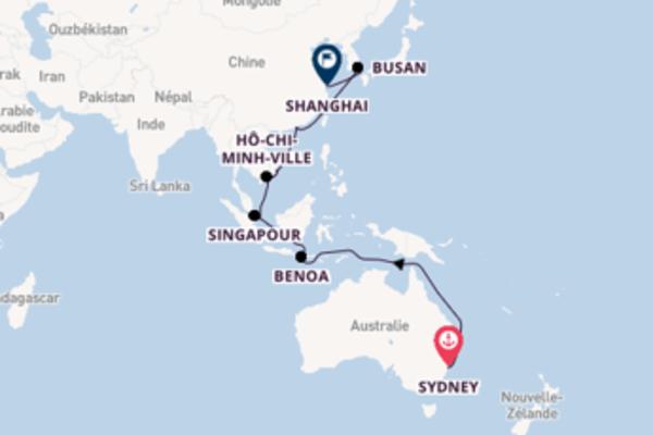 Découvrez à bord du bateau Sapphire Princess, la destination: Nha Trang
