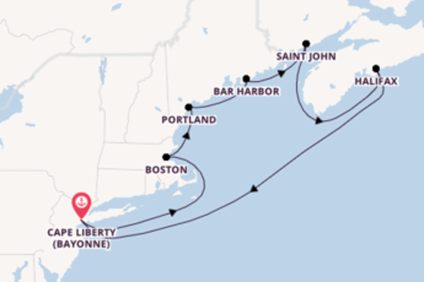 Cruise from Cape Liberty (Bayonne) with the Freedom of the Seas