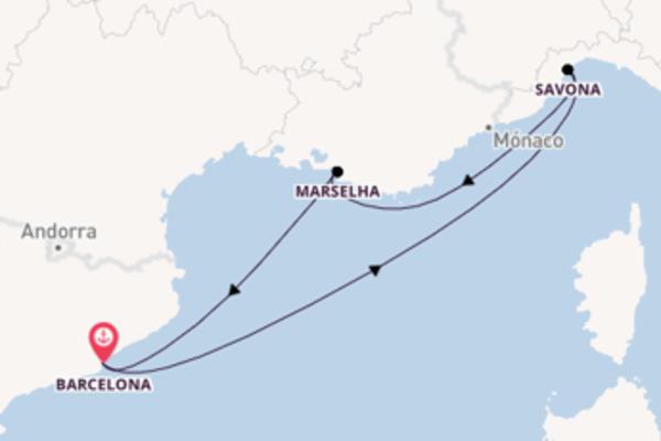 Desfrute 4 dias a bordo do Costa Fortuna