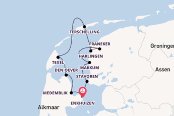 Entdecken Sie das Ijsselmeer mit dem Fahrrad und dem Boot