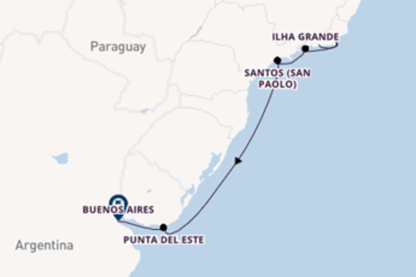 Prendere il largo verso Buenos Aires da Rio de Janeiro