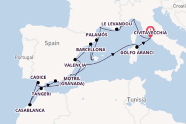 A bordo di Seabourn Encore fino a Civitavecchia