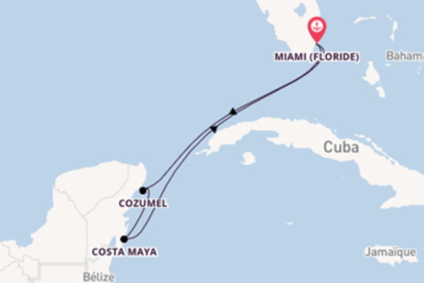 6 jours pour découvrir Cozumel à bord du beateau MSC Divina