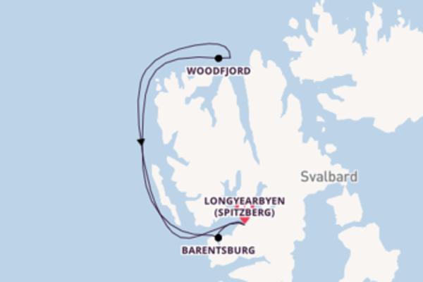 Divine croisière vers Longyearbyen (Spitzberg) via Barentsburg