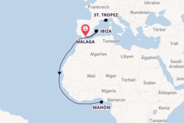 Von Málaga, Spanien über Marseille, Frankreich in 9 Tagen