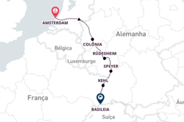 De Amsterdã para Basel