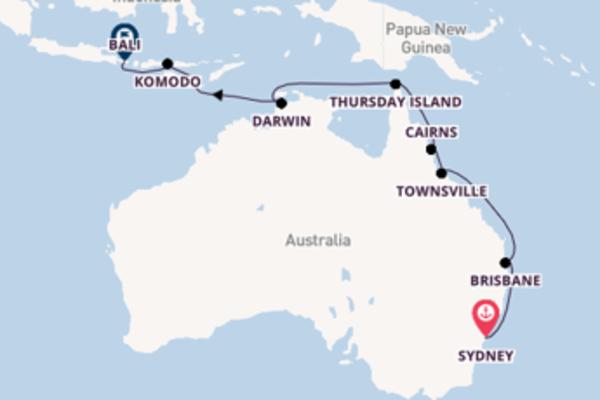Lasciati conquistare da Sydney, Brisbane e Bali