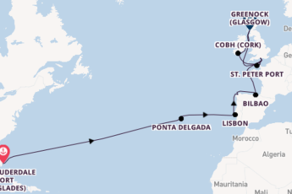 24 day voyage on board the Emerald Princess from Fort Lauderdale (Port Everglades)