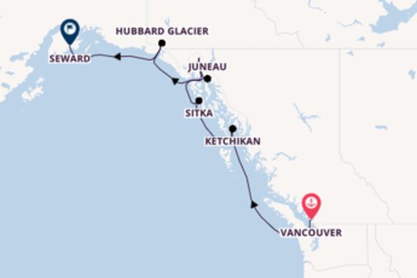 Sailing from Vancouver via Ketchikan