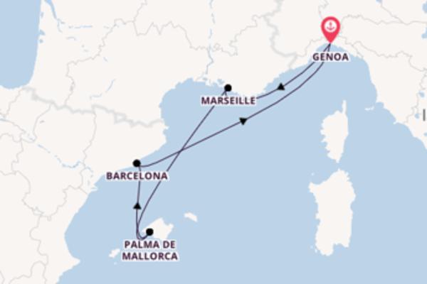 Cruise from Genoa with the MSC Preziosa