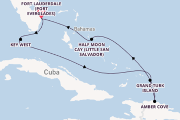 Cruise from Fort Lauderdale with the ms Nieuw Amsterdam