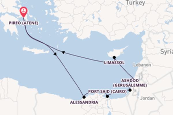 Navigando da Pireo (Atene) verso Ashdod (Gerusalemme)