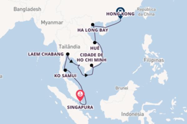 Cruzeiro de 17 dias a bordo do Seven Seas Mariner