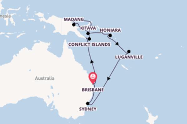 Papua New Guinea & Solomon Islands from Brisbane