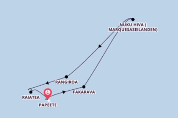 Cruise naar tropische sferen en ontdek Hawaii & Bora Bora