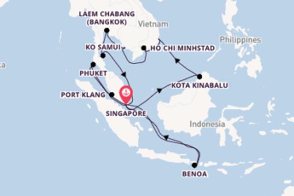 22-daagse cruise met de Grand Princess vanuit Singapore