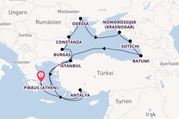 14-tägige Reise ab/bis Athen