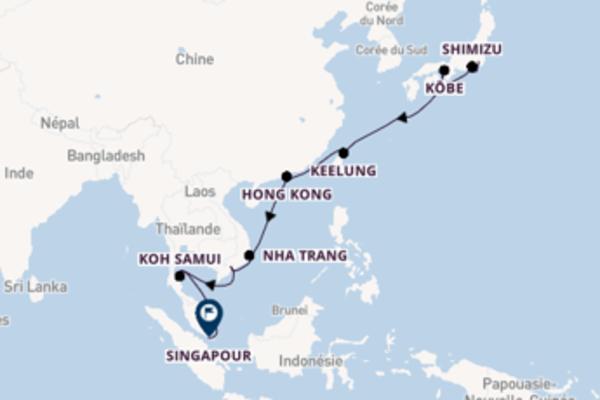 Hô-Chi-Minh-Ville, depuis Tokyo à bord du bateau Pacific Princess
