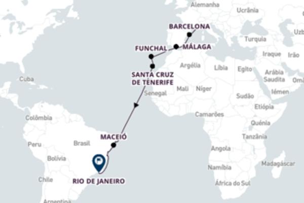 Agradável cruzeiro de 18 dias com o Costa Fascinosa