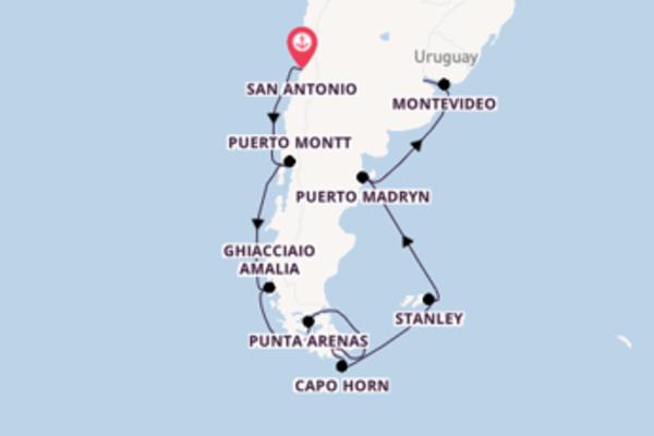 15 giorni di crociera fino a Buenos Aires