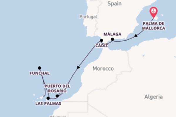 Maak een droomcruise naar Cádiz
