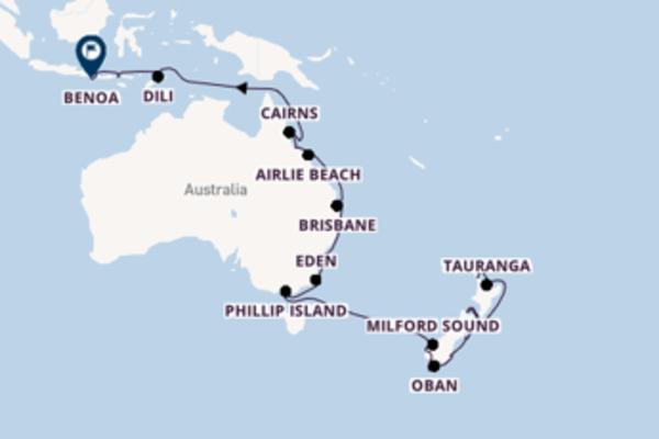 Romantico viaggio di 34 giorni passando per Phillip Island