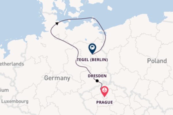 Cruising with CroisiEurope from Prague to Tegel (Berlin)