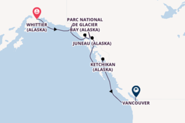 Croisière de 8 jours vers Vancouver avec Princess Cruises