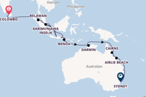 Sri Lanka bis Australien