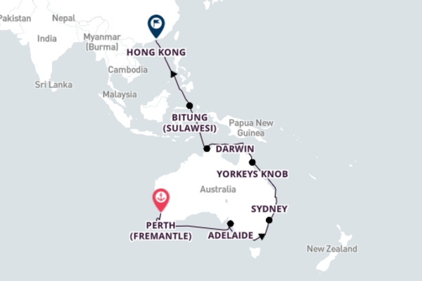 Perth to Hong Kong with Queen Mary 2