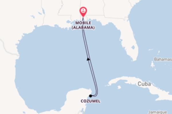 5 jours pour découvrir Cozumel au départ de Mobile (Alabama)