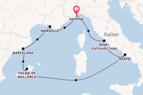Traumhafte Reise mit der Costa Firenze